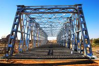 Steel Frame Steel Truss Bridge Single lane For Ferry , Assembly