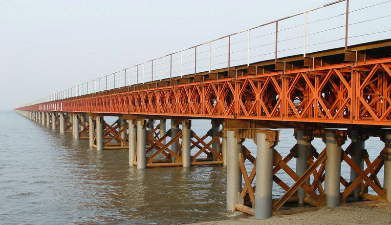 Prefabricated Compact Bailey Bridge / Portable Steel Bridge Light Weight