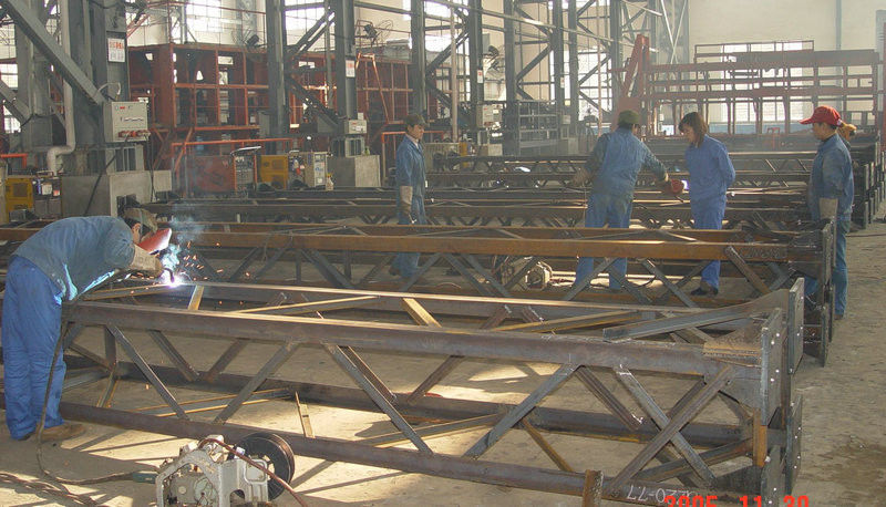 High Strength Prefab Steel Building Structure For Communication Tower, Commercial Building